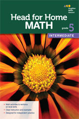 Head for Home Math  Intermediate Workbook Grade 5-9780544038370