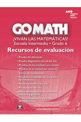 Go Math! Spanish  Assessment Resource with Answers Grade 6-9780544066151