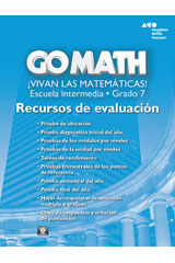 Go Math! Spanish  Assessment Resource with Answers Grade 7-9780544066168