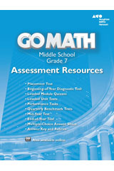Go Math!  Assessment Resource with Answers Grade 7-9780544066816