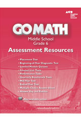 Go Math!  Assessment Resource with Answers Grade 6-9780544066915