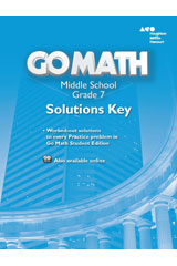 Go Math!  Solutions Key Grade 7-9780544068407