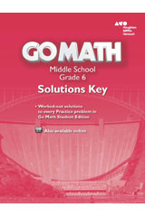 Go Math!  Solutions Key Grade 6-9780544068506