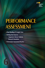 Collections 6 Year Online Performance Assessment Teacher's Guide Grade 6-9780544089426