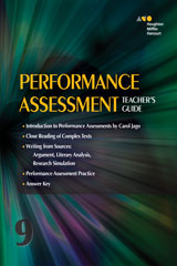 Collections 1 Year Online Performance Assessment Teacher's Guide Grade 9-9780544091702