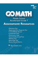 Go Math!  Assessment Resource with Answers Accelerated 7-9780544146914