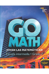 Go Math! Spanish  Student Interactive Worktext Accelerated 7-9780544147201