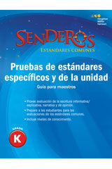 Senderos Estándares Comunes  Benchmark and Unit Tests Teacher's Edition Grade 6-9780544151253
