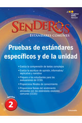 Senderos Estándares Comunes  Benchmark and Unit Tests Consumable Grade 2-9780544156722