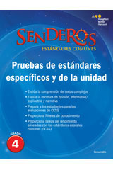 Senderos Estándares Comunes  Benchmark and Unit Tests Consumable Grade 4-9780544156746