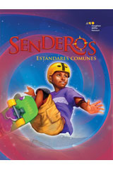 Senderos Estándares Comunes  Literacy Center Comprehension & Fluency Flip Chart Grade 6-9780544231474