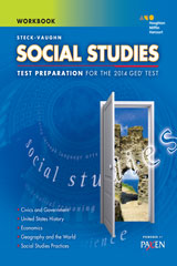 Steck-Vaughn GED  Test Preparation Student Workbook Social Studies-9780544274365