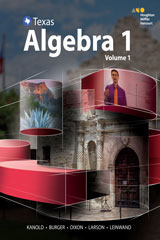 HMH Algebra 1  Interactive Student Edition, Volumes 1 & 2 Bundle-9780544365216