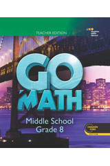 GO Math  Individual Teacher Resource Package 6 Year Grade 8-9780544381704