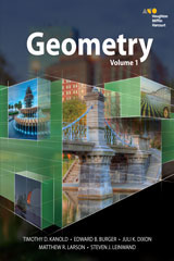 HMH Geometry  Interactive Student Edition Volume 1-9780544385795