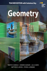HMH Geometry  Teacher Edition with Solutions-9780544385825