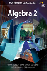 HMH Algebra 2  Teacher Edition with Solutions-9780544385924
