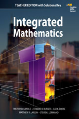 HMH Integrated Math 1  Teacher's Edition with Solutions-9780544389786