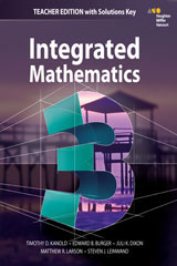 HMH Integrated Math 3  Teacher's Edition with Solutions-9780544389915