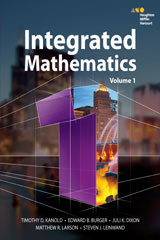 HMH Integrated Mathematics 1 6 Year Print/6 Year Digital Hybrid Student Resource Package per student-9780544409538
