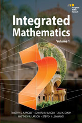 HMH Integrated Math 2  Hardcover Hybrid Student Resource Package with 6 Year Digital-9780544435063