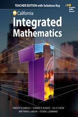 HMH Integrated Math 1  Teacher Edition with Solutions-9780544441507