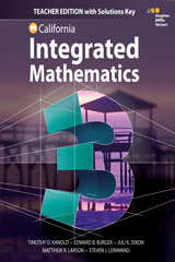 HMH Integrated Math 3  Teacher Edition with Solutions-9780544441521