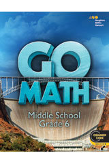 GO Math with 1 Year Digital Premium Classroom Package (75 students) Grade 6-9780544443440