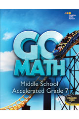 GO Math with 1 Year Digital Premium Classroom Package (75 students) Accelerated 7-9780544443471