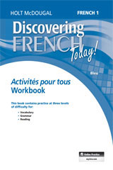 Discovering French Today  Activités pour tous (6yr Print Subscription) Level 1-9780544451544