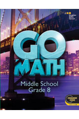 Go Math!  Digital Classroom Package 75 students 3-years Grade 8-9780544453586