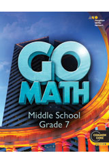 GO Math  Hybrid Classroom Package 3-year (print/digital 75 students) Grade 7-9780544453890
