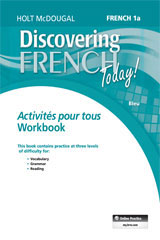 Discovering French Today  Activités pour tous (3yr Print Subscription) Level 1A-9780544463431