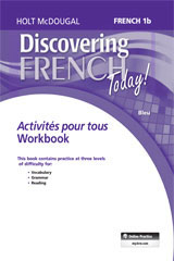 Discovering French Today  Activités pour tous (3yr Print Subscription) Level 1B-9780544463455