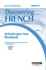 Discovering French Today  Activités pour tous (3yr Print Subscription) Level 2-9780544463493
