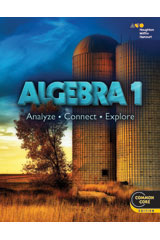 Algebra 1: Analyze, Connect, Explore 5 Year Print/5 Year Digital Hybrid Classroom Package (75 Students)-9780544482883