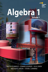 HMH AGA Algebra 1 3 Year Print/3 Year Digital Hybrid Student Resource Package (per student)-9780544505025