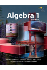 HMH Algebra 1  Teacher Resource Package 5 Year-9780544505032