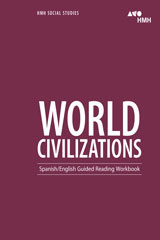 HMH Social Studies: World Civilizations  Spanish/English Guided Reading Workbook-9780544668201