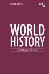 HMH Social Studies World History  Guided Reading Workbook-9780544668249
