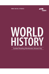 HMH Social Studies World History  Guided Reading Workbook Answer Key-9780544668720