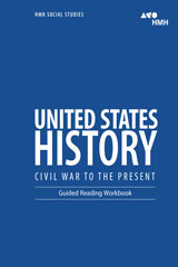 HMH Social Studies United States History: Civil War to the Present  Guided Reading Workbook-9780544669031