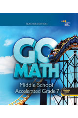 Go Math! with 1 Year Digital Hybrid Classroom Package Enhanced for 75 students Accelerated 7-9780544670006