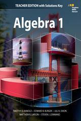 HMH Algebra 1 with 1 Year Digital Teacher Resource Package Enhanced-9780544670570