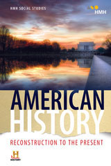 HMH Social Studies American History: Reconstruction to the Present  Common Cartridge, 6 Year-9780544673960