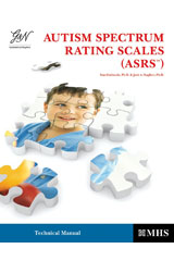 Autism Spectrum Rating Scale (ASRS)  ASRS-P (6-18) QuikScore Forms with DSM-5 Update-9780544972711