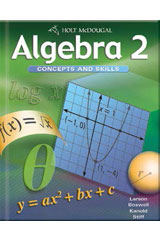 Algebra 2: Concepts and Skills  Transparency Book Chapter 7-9780547001876