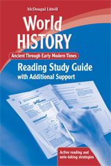 World History  Reading Study Guide with Additional Support Ancient through Early Modern Times-9780547020396
