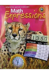 Math Expressions  Student Activity Book, Volume 1 Grade 5-9780547057279