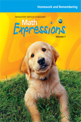 Math Expressions  Homework and Remembering (Consumable), Volume 1 Level K-9780547066660